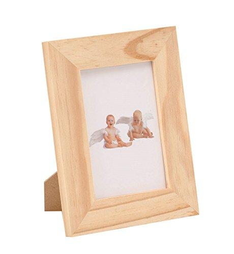 GLOREX 6 1683 400 - Bilderrahmen aus Kiefernholz mit Glasscheibe, ca. 13 x 17 x 3 cm groß, Rahmen kann individuell verziert und gestaltet werden