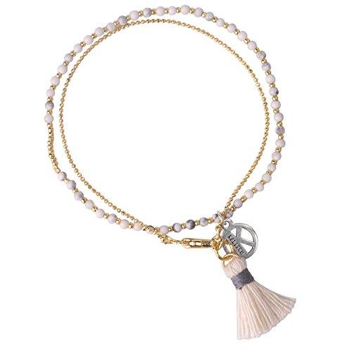 KELITCH Freundschaft Perle Achat Strang Armbänder MIYUKI Perlen Quaste Kristall Armband Armreif Frauen Charme Armbänder