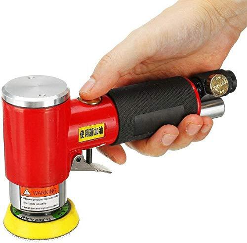 Conpush Exzenterschleifer,Motor Schleifmaschine MiniDruckluft Winkelschleifer Spot-Repair Polierer (50mm+75mm)