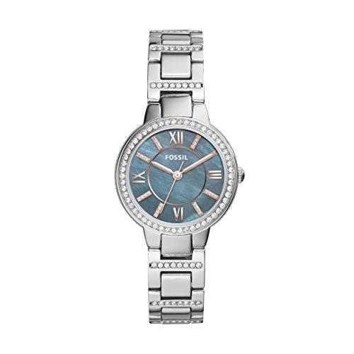 Fossil Damen Analog Quarz Uhr mit Edelstahl Armband ES4327