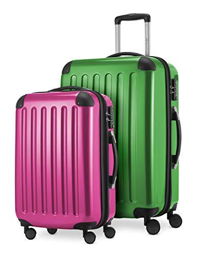 HAUPTSTADTKOFFER - Alex - 2er Kofferset Hartschale glänzend, mittelgrosser Koffer 65 cm + Handgepäck 55 cm, 74 + 42 Liter, TSA