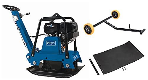 scheppach HP3000S Benzin-Rüttelplatte - 9PS |30,5kN | 50cm Verdichtungstiefe | inkl.Gummimatte und Fahrvorrichtung