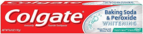 Colgate Baking Soda amp Peroxide Whitening Toothpaste Frosty Mint Stripe