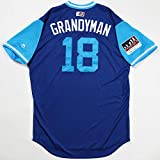 CURTIS'GRANDYMAN' GRANDERSON GAME USED & WORN 2018 PLAYERS WEEKEND JAYS JERSEY