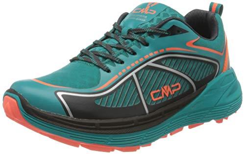 CMP – F.lli Campagnolo Damen Nashira Maxi Wmn Trail Shoe Traillaufschuhe, Grün (Curacao-RED Fluo 32LC), 41 EU