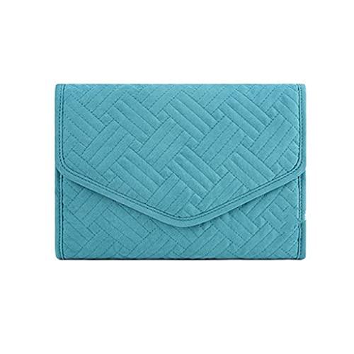 ZFFSC Exquisito joyero La Caja de la Caja de Joyas de la Caja de joyería se Puede Utilizar para Collares múltiples, Pulseras, Anillos, Azul Suave Azul Exquisito joyero