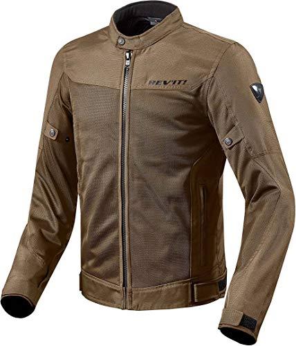 REV'IT! Motorradjacke mit Protektoren Motorrad Jacke Eclipse Textiljacke braun 4XL, Herren, Tourer, Ganzjährig