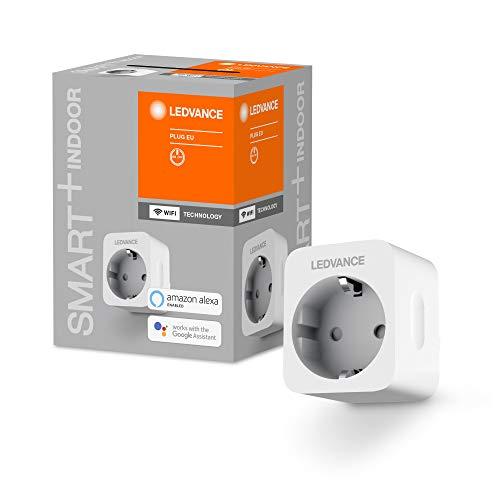 LEDVANCE SMART+ Schaltbare Steckdose für WiFi, mit Strom Vermessung, Kompatibel mit Google und Alexa Voice Control, 1er-Pack