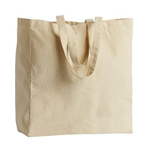 ID - Bolsa para la compra 100% algodón (Talla Única/Blanco roto)