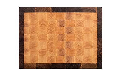 MTM Wood Planche à découper de cuisine en bois de bouleau sur cadre en noyer, End Grain, tailles différentes et épaisseur 3 et 4 cm (40 x 30 x 4 cm)