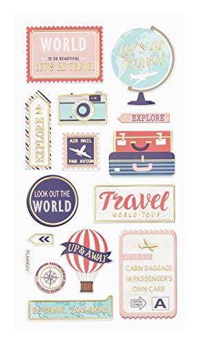 Hobbyfun Softy-Sticker Travel, Bogen 9,5 x 18 cm