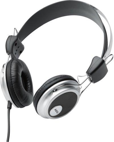 AEG KH 4220 Kopfhörer mit geschlossener Ohrmuschel für ein herausragendes Klangerlebniss, Edelstahlbügel, Lederpolster