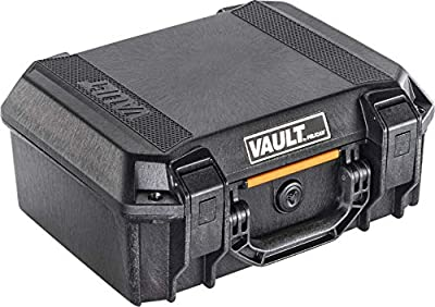 Vault by Pelican - V200 Pistol Case with Foam (Black)