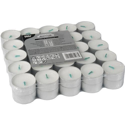 500 Teelichter Ø 37,2 mm, 17,9 mm, weiß, 100% Stearin