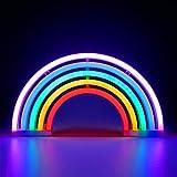 XIYUNTE 17.5 x 7inch LED Leuchtschilder Wandlichter Stimmungslichter Innenbeleuchtung Einhorn Leuchtreklamen, USB Stromversorgung Früher Nacht Lichter (A-Regenbogen)