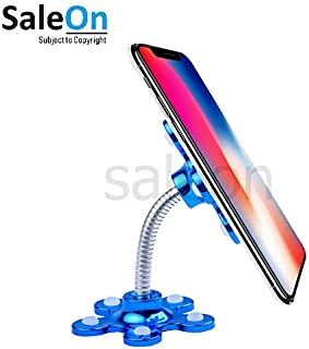 SaleOn™ 360 Degree Rotating Metal Flower Magic Suction Cup Mobile Phone Holder Stand for Car, Home, Office and Outdoor 1036