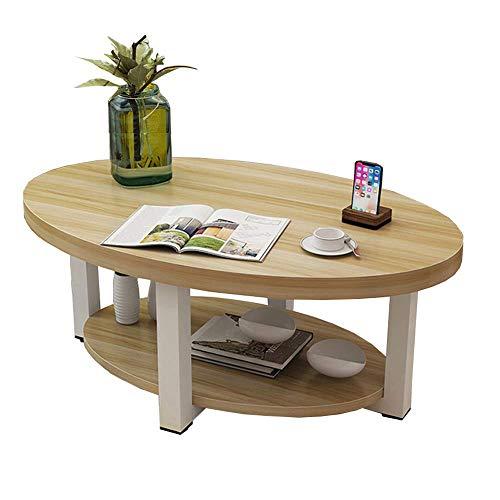 Carl Artbay Home & Selected Furniture / Sofa / salontafel Moderne salontafel 2 niveaus Open Storage Shelf Display Stand, 100 x 50 x 45 cm (Kleur: D)
