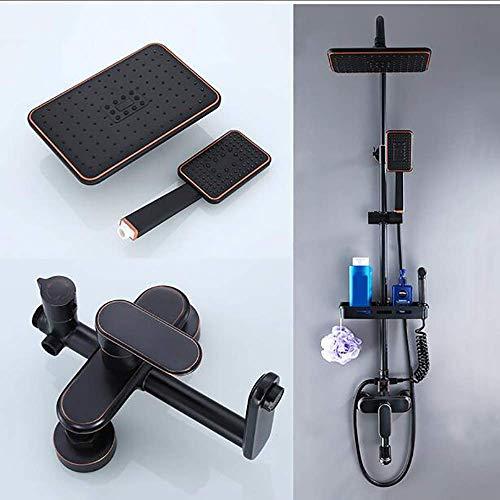 WY-YAN Baño mezclador de la ducha moderna, ducha de mano manguera de la ducha Cabeza de alta presión Lluvia Top aerosol de la ducha for el último experiencia de ducha Alta presión