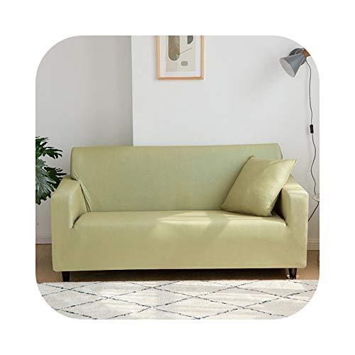 HCIUUI Elastische Sofabezüge Rot/Grün/Purple/Grey Stretch Couch Cover für Sofas Slipcovers 1/2/3/4 Seater Furniture Protector Cover-01110-Mustard Green-1 Sitzbezug (90-140 cm)