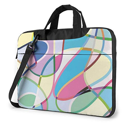 XCNGG Colorful Abstract Lines Computer Bag Durable Laptop Briefcase Shoulder Messenger Bag for Computer Notebook 15.6 inch
