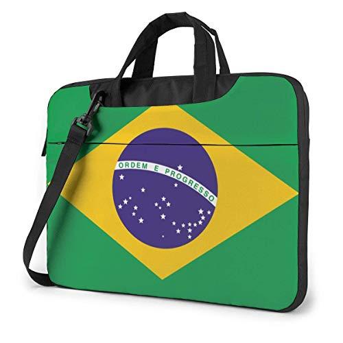 Shockproof Laptop Bag Flag_of_Brazil Shoulder Messenger Bag Slim Tablet Carry Handbag for Business Trip
