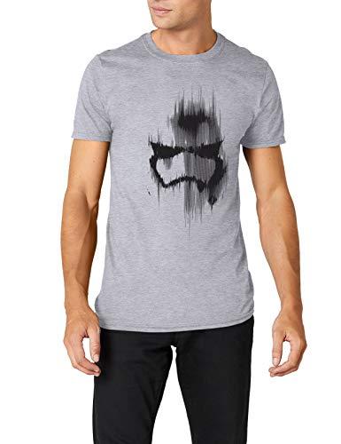 Star Wars Trooper Mask T-Shirt, Grigio (Grey Marl), XL Uomo