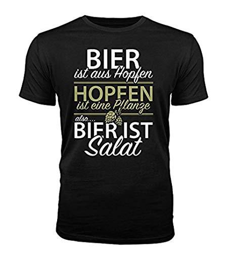 Bier ist Salat - lustiges Herren T-Shirt (S)