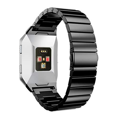 UKCOCO Correa de Metal Fitbit Ionic, Banda Acero Inoxidable Mujeres Hombres Reloj Inteligente Correa de Reemplazo Accesorios...