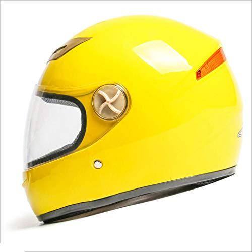 Le casque de dessin animé universel quatre saisons pour enfants de vélos électriques pour casque peut être ajusté en taille et en couleur (Couleur : Le jaune)