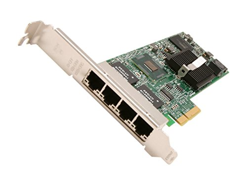 Intel E1G44ET2BLK - Módem Adaptador de Red Gigabit Intel ET2 Cuatro Puertos para Servidor Adaptador PCI Express Ethernet, Fast Ethernet, Gigabit Ethernet 10Base-T, 100Base-TX, Puertos 1000Base-T 4