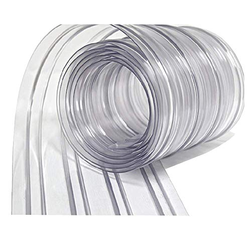 Resilia - Plastic Vinyl Strip Curtain for Walk In Freezers, Coolers & Warehouse Doors - Clear, 80 mil Thick, 8 Inch x 150 Foot Roll