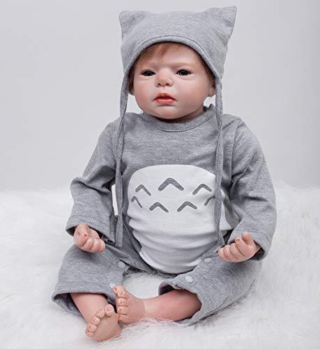 55cm Bebes Reborn niño Silicona muñecas realistas Baby Doll niña