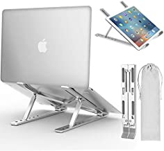 "Laptop Stand, iVoler Adjustable Aluminum Laptop Computer Stand Tablet Stand,Ergonomic Foldable Portable Desktop Holder Compatible with MacBook Air Pro, Dell XPS, HP, Lenovo More 10-15.6"" Laptops"