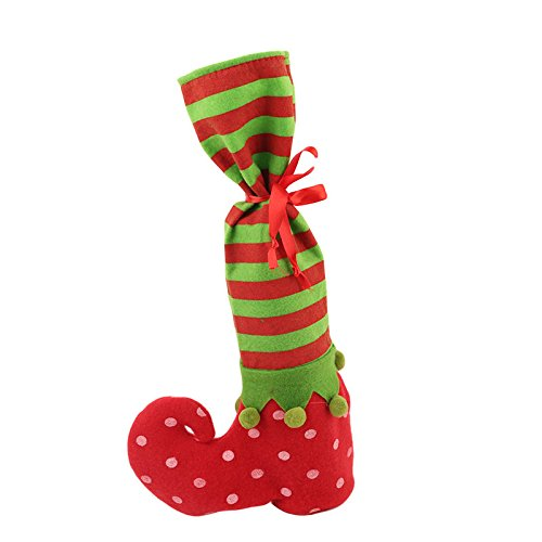 Buildent(TM) 1 PC Christmas Stocking Red Wine Bottle Cover Bags Christmas Gift Bag Dinner Table Decoration Home Party XMAS Decors