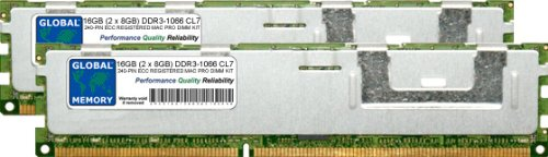 16 GB (2 x 8 GB) DDR3 1066 MHz PC3-8500 240 Pines...