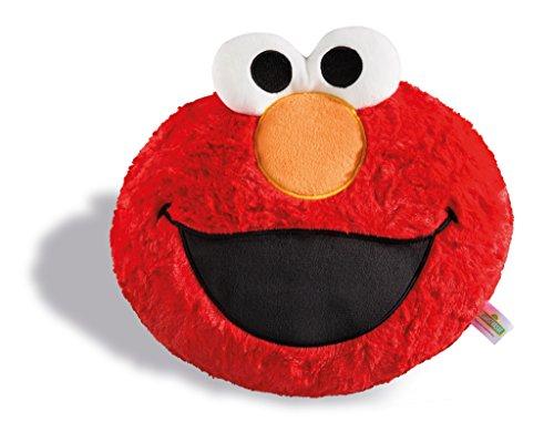 NICI 1 Cojín de Barrio Sésamo Monster Elmo Figurer, Rojo, 28 x 24 cm