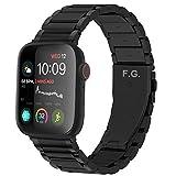 GerbGorb Cinturino Compatibile per Apple Watch 42 mm, Cinturini in Acciaio Inossidabile per iWatch Serie SE 6 5 4 3 2 1, Watch Band per iWatch, 42mm Nero+ Hardware Ne