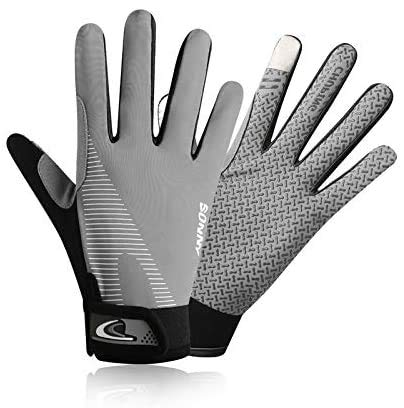 YHT Workout Gloves, Full Palm Protection & Extra Grip, Gym Gloves for Weight Lifting, Training, Fitness, Exercise (Men & Women) (Gray,Large)