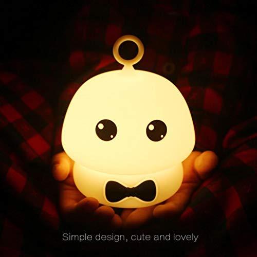 Alikey ❤ Moocoo Nachtlampje van silicone voor kinderen, nachtlampje, comic, baby, baby, nachtlampje, aanraking, nachtlampje, stopcontact, nachtlampje, baby, nachtlampje, anti-muggen, nachtlampje, reizen, nachtlampje, kleurrijke siliconenpaddenstoelen (C)