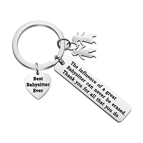 TGBJE Babysitter Gift Thank You for All That You Do Keychain Best Babysitter Ever Gift Appreciation Gift Nanny Gift (Babysitter Keychain)