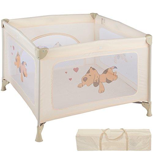 TecTake Parque para bebé Cuna Infantil de Viaje portátil (Beige | No. 402208)