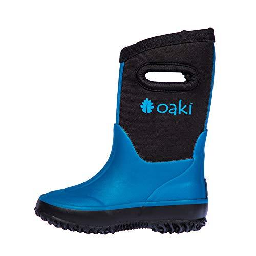 OAKI Kid's Neoprene Rain Boots, Snow Boots, Muck Rain Boots, Celestial Blue 13T