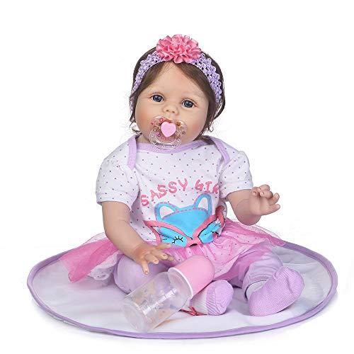 MCJL Boneca Reborn Baby Dolls de qualidade realista feita à mão para bebês meninas de vinil macio de silicone realista/brinquedos para crianças a partir de 3 anos de idade