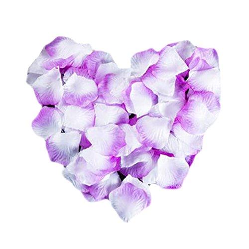 Black Temptation Fleurs artificielles Pétales de Rose Saint Valentin Mariage Célébration Anniversaire Décoration-Violet Blanc