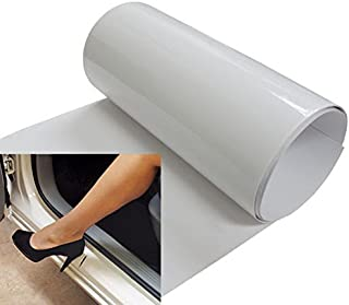 iJDMTOY 6 by 48 Inches Clear Door Sill Paint Protection Scratch Film Vinyl Sheet
