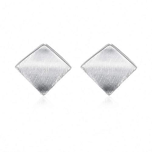 QYRKYP Pendientes S925 Pendientes de Plata Esterlina Simple Y Creativo Triángulo Asimétrico Pendientes Temperísticos Joyería de Temperamento para Mujeres, Dos Pendientes Diferentes en Estilo,Oro