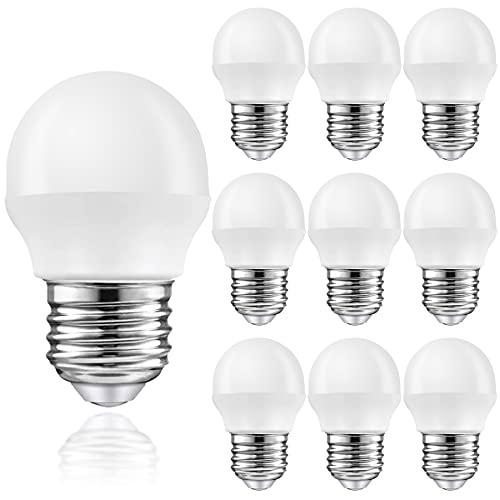 MZYOYO Lámpara LED E27 Bombilla 2W,LED G45,Bombilla LED Blanca Cálida 2700K,150LM,Reemplazo de Lámpara Incandescente de 15W,ángulo de haz de 230 °,Bombilla LED E27,No Regulable,Paquete de 10