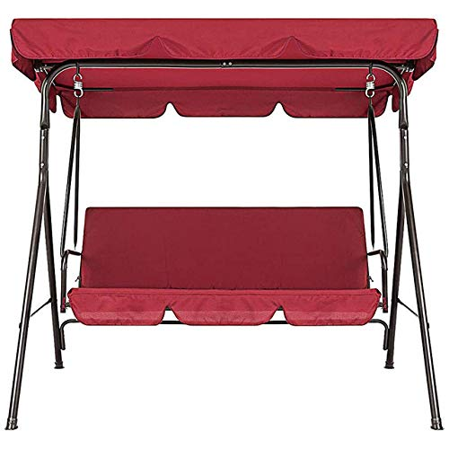 IHCIAIX chair,Terrace Swing Chair 2 Pieces/Set Universal Garden Chair Dustproof 3-Seater Outdoor Cover,red