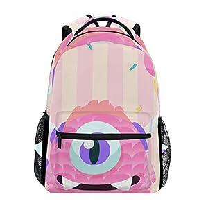418bxVcpPHL. SS300  - Mochila Escolar Rosa Monster Student Mochila Grande para niñas niños Escuela Primaria Bolsa de Hombro Bolsa de Libros