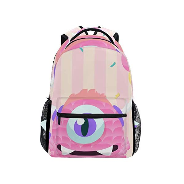 418bxVcpPHL. SS600  - Mochila Escolar Rosa Monster Student Mochila Grande para niñas niños Escuela Primaria Bolsa de Hombro Bolsa de Libros
